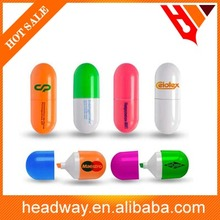 3in1 promotion plastic pill shaped highlighter
