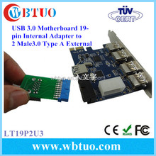 Factory Directly 19pin to 2port usb3.0 card