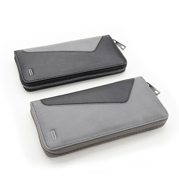 OEM Chinese Wireless Charging Long Men Money Wallet With Zipper