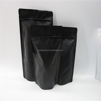 Food Moisture-proof Black Matt Roasted Coffee Bean Packaging Bag Stand Up Premium Saudi Coffee Pouches with Ziplock