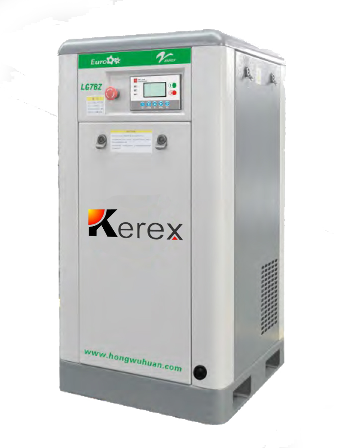 11kw stationary small silent electric screw air compressor
