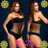 Women Lingerie Leopard Corset Hot Latex Waist Traine xxxl sexy leather corset