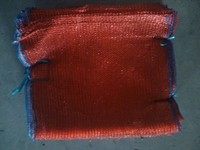 red raschel mesh bag/drawstring mesh bag 23g for onion/potato/garlic