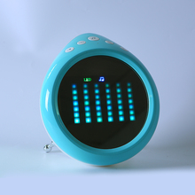Led Wake Up Touch Light Rechargeable Portable Led Alarm Clock With Nature Sounds