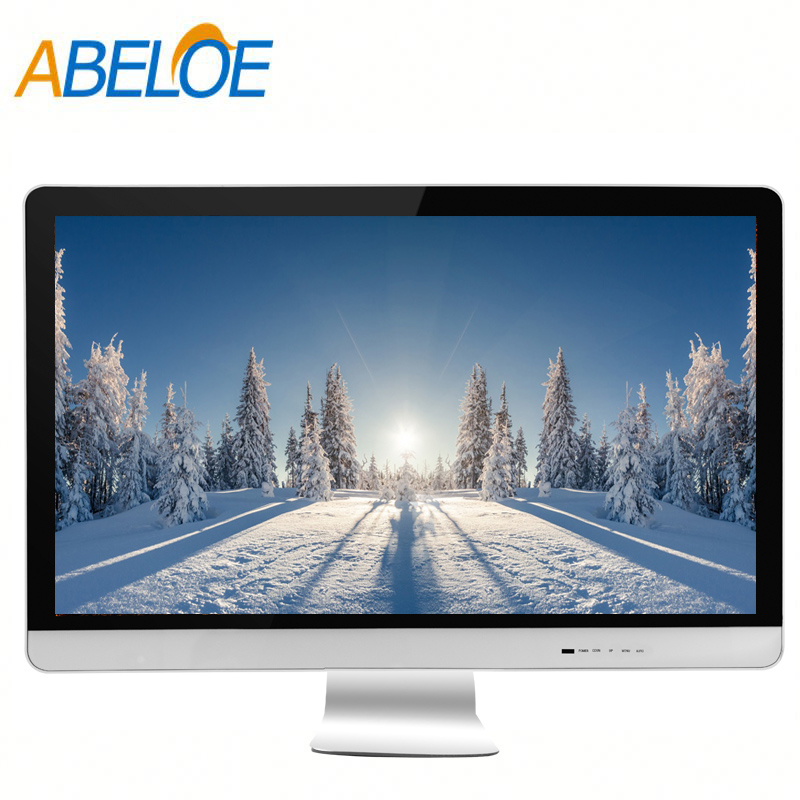 24 inch white tft-lcd monitor 12 volt hd monitor for computer