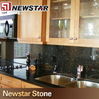 Newstar cheap kitchen cabinet pvc countertop with sink