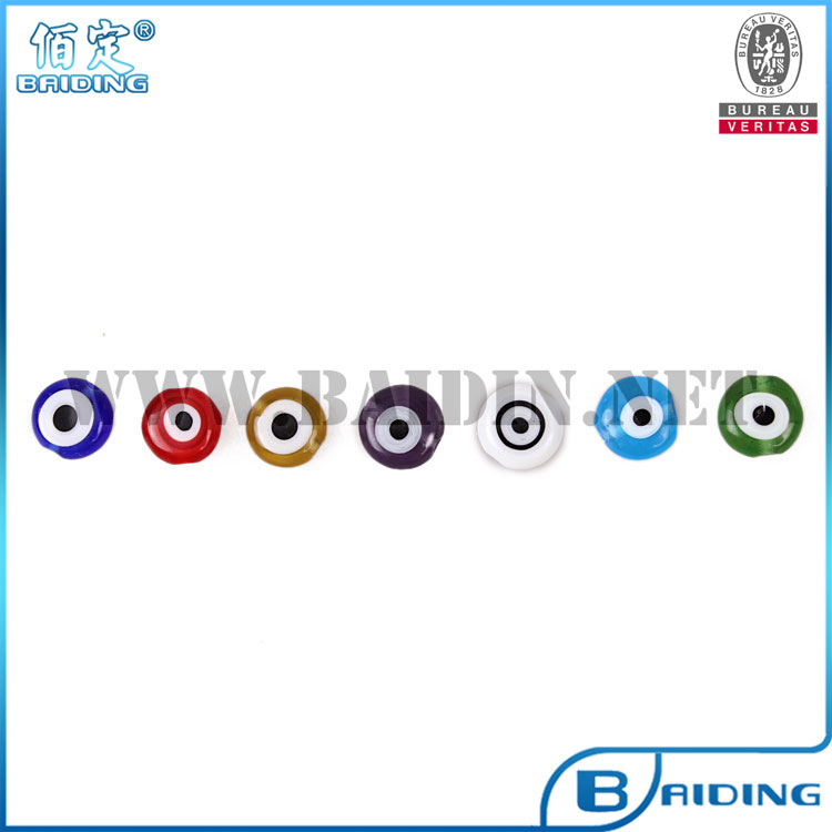 wholesale stock 6mm 8mm 10mm 12mm flat evil eye beads