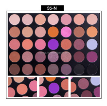 Blank Logo 350 Palette Private Label 35 Colors Eyeshadow Palette Custom Makeup Palette with Matte and Shimmer Shades