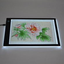 A4 and A3 Super Thin Art Craft Tracer Tattoo LED Light Pad, Artist Copy Light Tracing Box