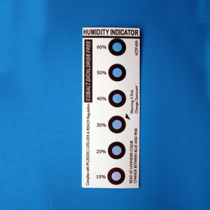 Various Dots Blue to Pink Humidity Indicator Cards