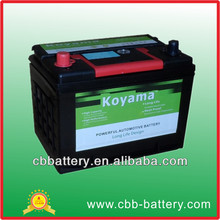 JIS60 12V 60Ah Starter Battery 55D26R CBB Starting battery