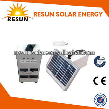 small complete solar system15W for light or mobile charge best price from China