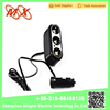 1-to-3 Car Cigarette Lighter Socket Splitter w/ Individual Switch + USB Port - Black (DC12~24V)