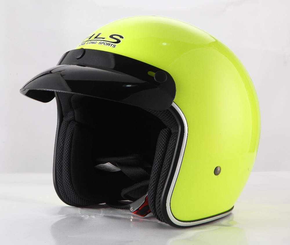 Fashion design vintage open face helmet for motorbike