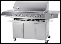 6 burners propane gas bbq grill with back/infrared burner