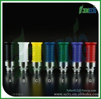 3X E cigar colorful delrin+Ss wide bore drip tip 510 wholesales