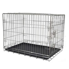 19inch- 48inch metal construction crate mesh storage foldable dog crate with pallets storage