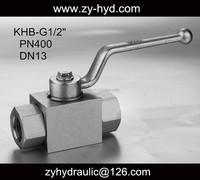 hydraulic oil KHB-G1/4 high pressure ball valve 7250psi