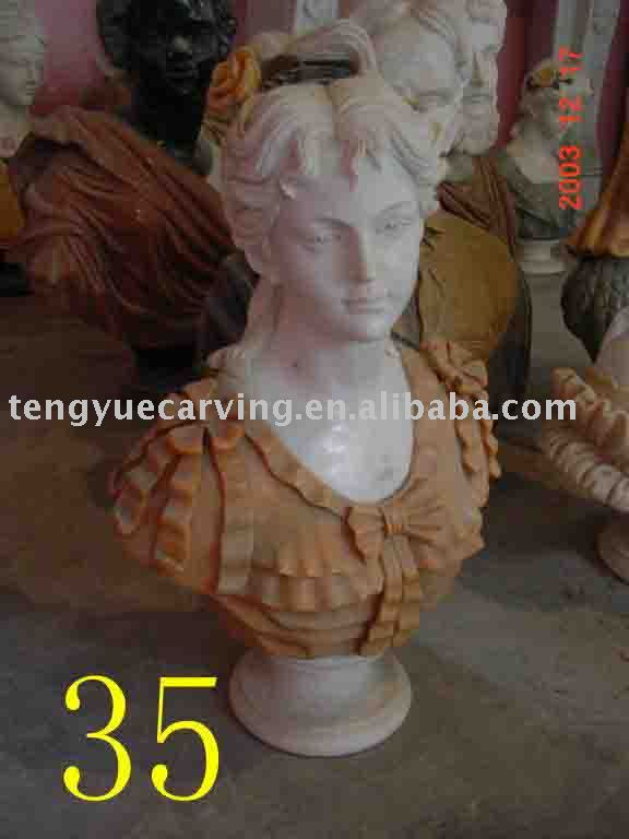 stone carving bust sculpture