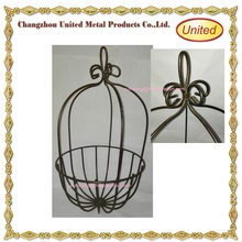 Garden Planter Wire metal iron Hanging Basket includes Coconut liner with Chains