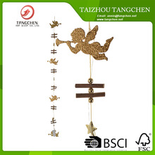wholesale wooden angel christmas tree garland door hanger decoration