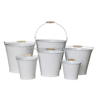 2 Gallon galvanized tin buckets