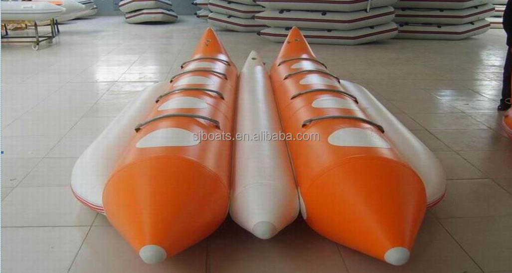 3 person PVC inflatable banana boat for sale