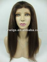 Best selling 100% real virgin remy hair kinky straight lace front wigs