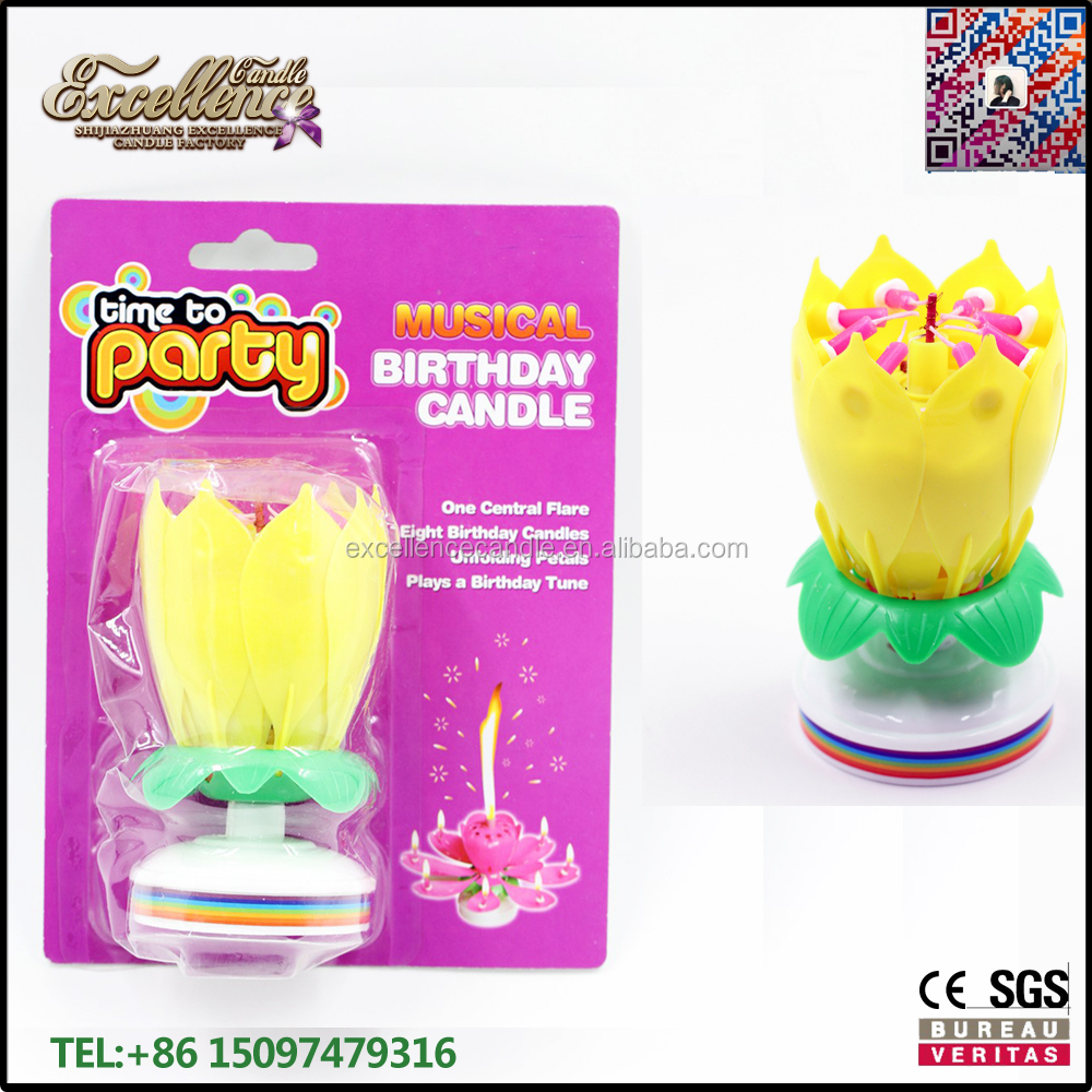 export to Mexico market happy birthday lotus flower candle