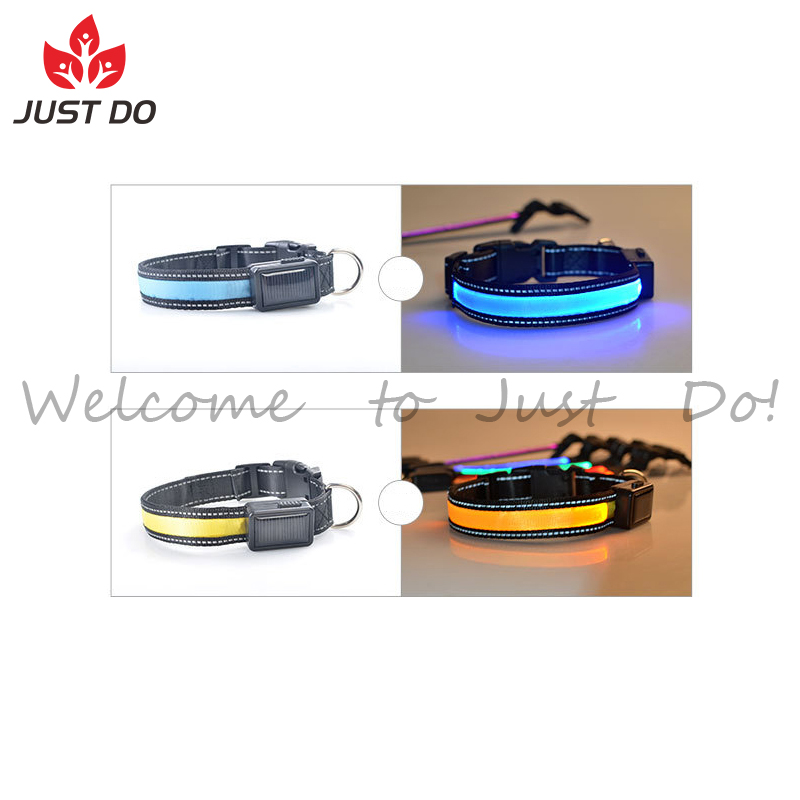 Solar Energy Rechargeable Led Pet Dog Safety Collar