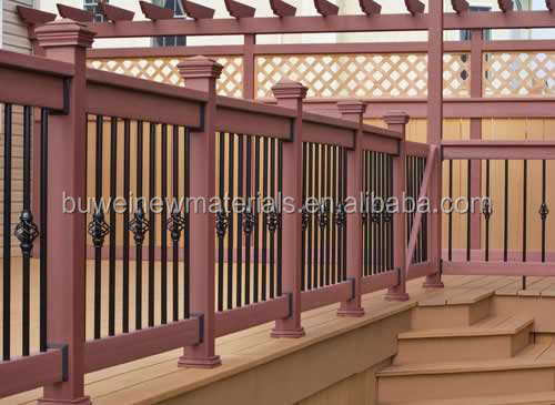 Outdoor garden/park ASA CO-EXTRUSION WPC/PVC FENCING