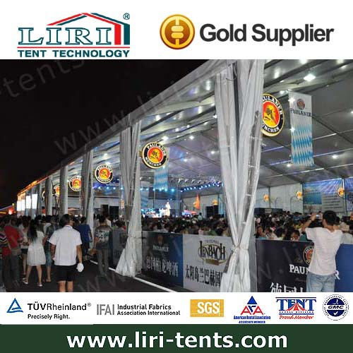 Large outdoor canopy tent for trade show display