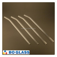 Health drinking glass pipette, reuse glass straw, clear glass pipette custom