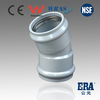 ERA pvc rubber ring fittings PVC pressure fitting with gasket 22.5degree elbow