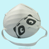 NIOSH N95 children cartoon face mask, kids dust mask