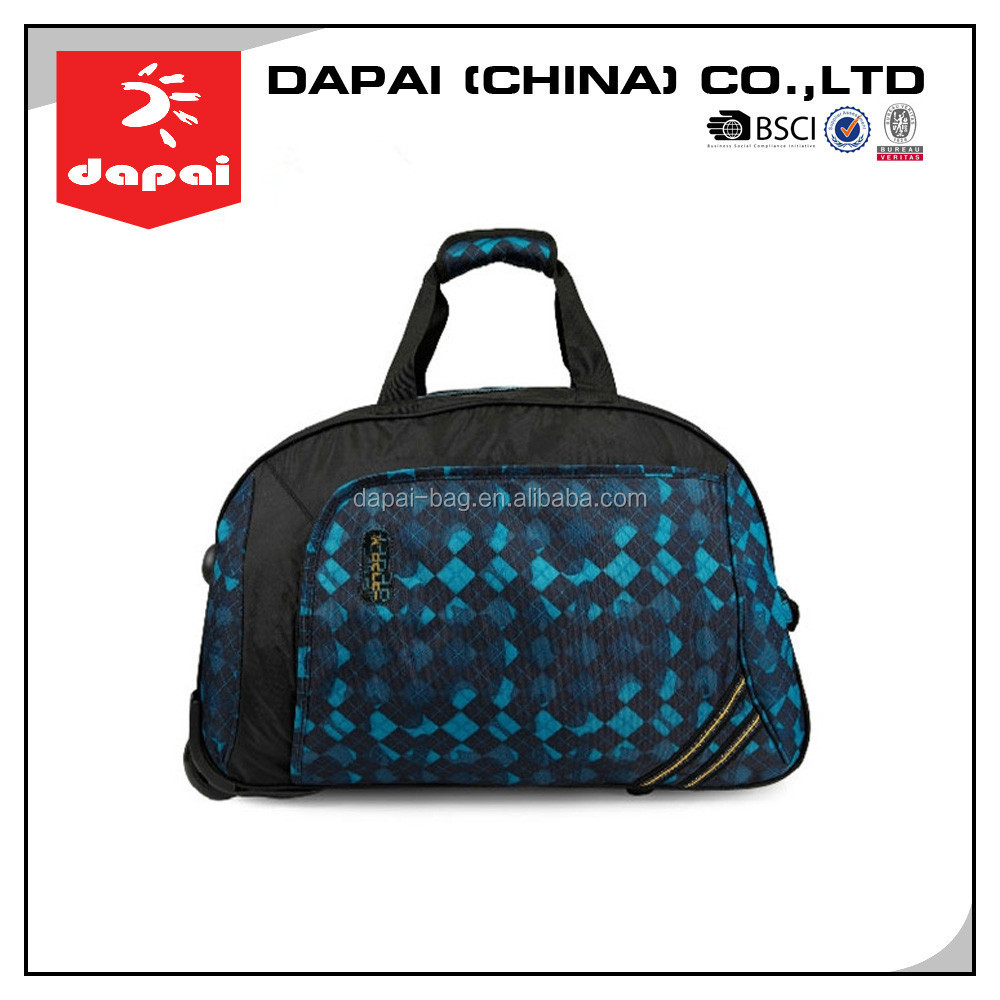 Men&Women Printing Travel Bag On Wheel Luggage Bags Travel Trolley Bag