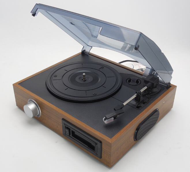 antique portable lp vinyl turntable player& record pressing production