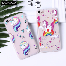 TOMOCOMO Cute Unicorn Rainbow Cartoon Transparent Soft Silicone Phone Case Back Cover For iPhone X 6 S 7 8 Plus 5S OPPO R9
