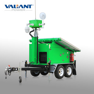solar energy mobile CCTV trailer of digital camera accessory