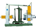Multi-functional cutting and polishing machine for stone column