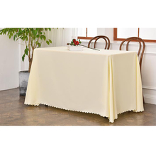 Polyester plain rectangle dining table cloth for sale