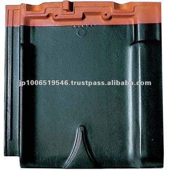 Extremely durable and very long-lasting Japanese ceramic roof tile ( CERAM F2 Straight Black color )