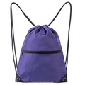purple drawstring sports bag