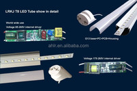 Indoor/outdoor led commercial lighting 18w t8 led tube 1200