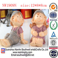 resin custom life size little love girl and boy doll