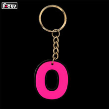 Top selling custom color 3d print shape design rubber key chain