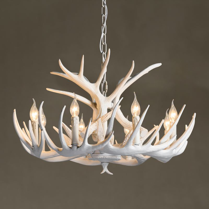 The Nordic modern American country antler chandelier dining room chandelier Bar Cafe Clothing Art Chandelier