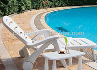 Plastic outdoor lounge chair
