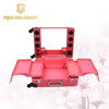 Professional Aluminium Rolling Makeup Trolley Case with lighted mirror Cosmetic Train Case eyebrow kit