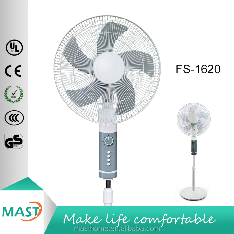 2016 New Invention Electrical 16 Inch Stand Indoor Rechargeable Fan Model:FS-1620